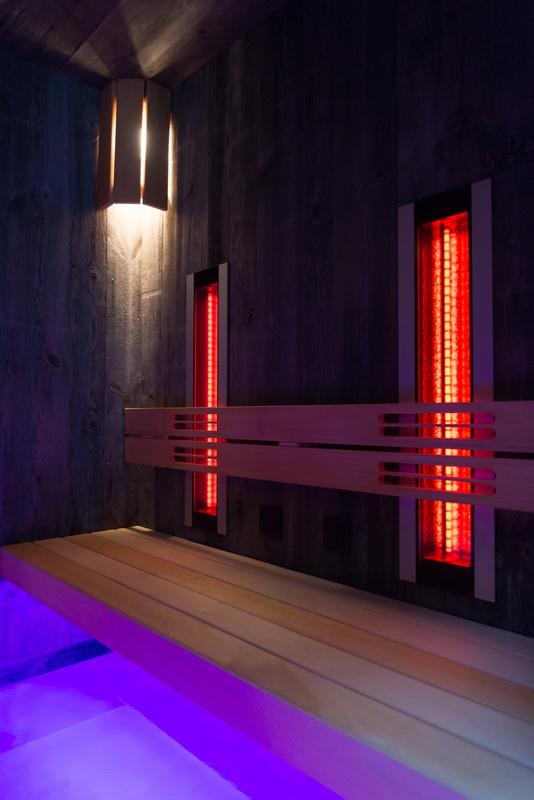 De helderheid van een infrarood sauna