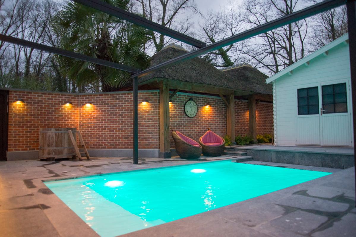 privé sauna met buiten zwembad